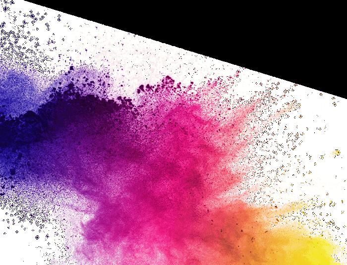 Tâche de peinture multicolore
